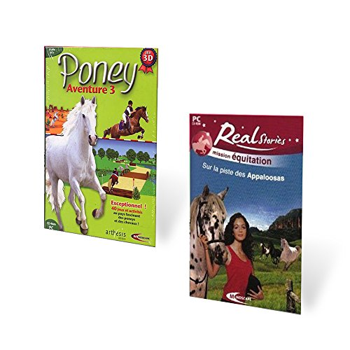 Pack 2 jeux Real Stories Sur la piste de Appaloosas, Poney A